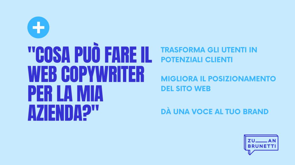 cosa fa il web copywriter